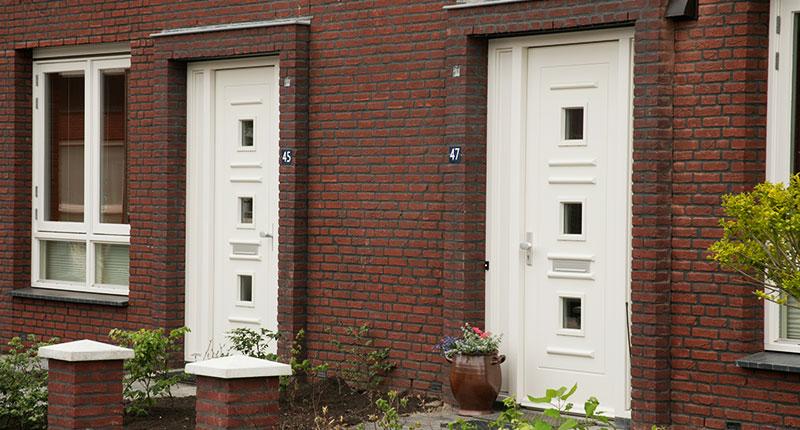Vlakke houten voordeur