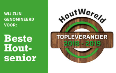 Nominatie verkiezing houtwereld topleverancier 2018-2019